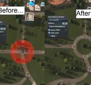 Roundabout Builder Mod for Cities Skylines