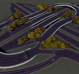 4 Way Sunken Interchange Mod for Cities Skylines