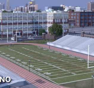American Football Field Props Mod for Cities Skylines
