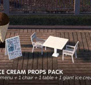 Ice Cream Props Pack Mod for Cities Skylines