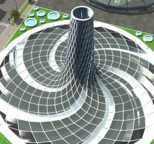 NTE - Helios2 Solar Tower - 560 MW Electricity & 320 MW Heating Mod for Cities Skylines