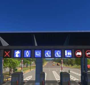 Toll Led Boards Mod for Cities Skylines