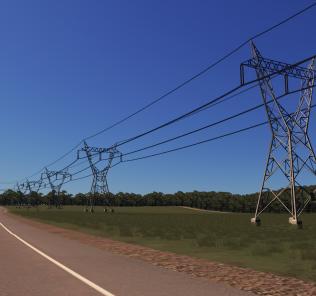 400kV Power Line Mod for Cities Skylines