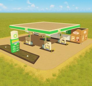 BP gas station Ploppable Mod for Cities Skylines
