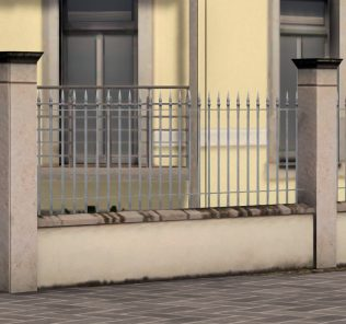 Bright iron fences Mod for Cities Skylines