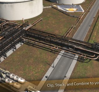 Industrial Pipeline Mod for Cities Skylines