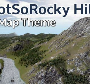 NotSoRocky Hills Map Theme Mod for Cities Skylines