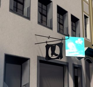 Random Old Shop Signs Mod for Cities Skylines
