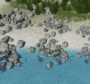 S1 Surface Rock - Water Friendly Mod for Cities Skylines