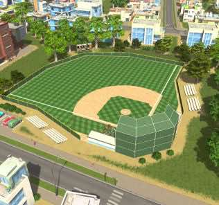 Baseball Field Mod for Cities Skylines