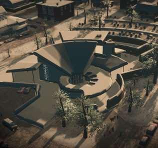 Large Advanced Crematorium Mod for Cities Skylines