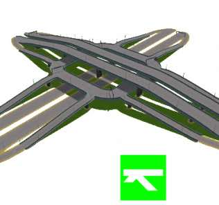 Timboh's Three-level Roundabout Interchange Mod for Cities Skylines