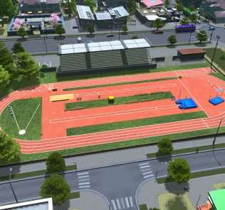 Track and field Mod for Cities Skylines