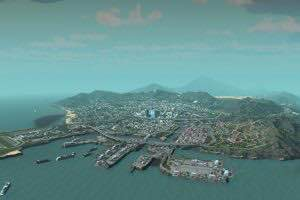 Los Santos from GTA V Mod for Cities Skylines