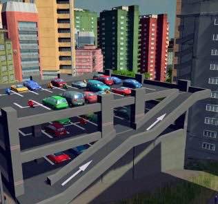 Multi-storey car park Mod for Cities Skylines
