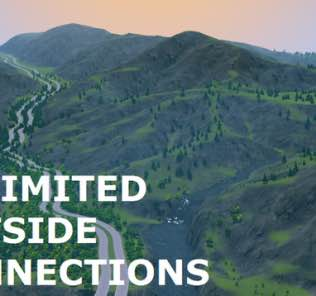 Unlimited Outside Connections (Beta) Mod for Cities Skylines