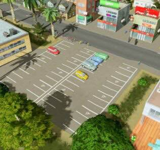 2x4 Parking Lot v2.0 Mod for Cities Skylines