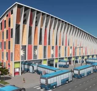 City Bus Terminal & Metro Mod for Cities Skylines