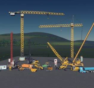 Construction Equipment props pack Mod for Cities Skylines