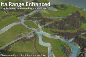 Delta Range Enhanced Mod for Cities Skylines