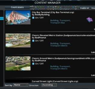 Improved Content Manager Mod for Cities Skylines