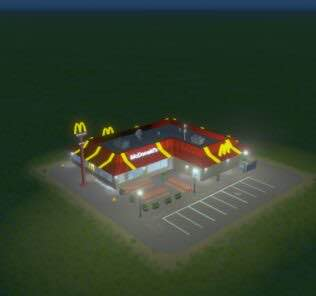 McDonalds Mod for Cities Skylines