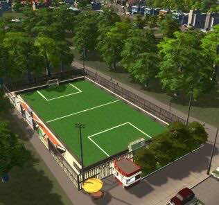 Mini Soccer Field Mod for Cities Skylines