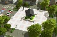 Modern Art Plaza Mod for Cities Skylines