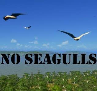 No Seagulls Mod for Cities Skylines