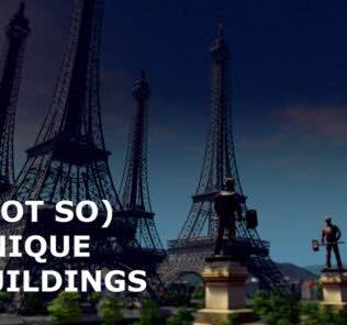 Not So Unique Buildings Mod for Cities Skylines