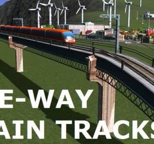 One-Way Train Tracks Mod for Cities Skylines