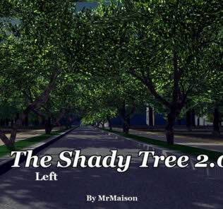 The Shady Tree Left Mod for Cities Skylines