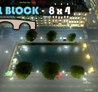 Canal Block 8x4 Mod for Cities Skylines