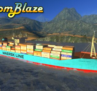 Maersk Line Cargo Ship Mod for Cities Skylines