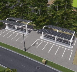 Solar Parking Lot 2x2 Mod for Cities Skylines