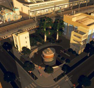 spiral underground parking lot Mod for Cities Skylines